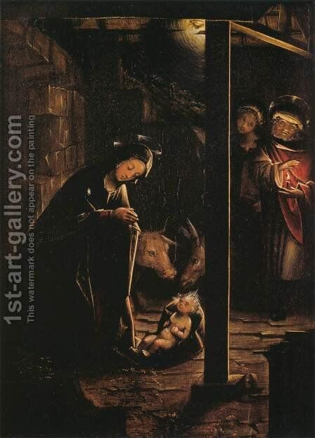 Nativity in Nocturnal Light by Defendente Ferrari - Reproduction Oil Painting