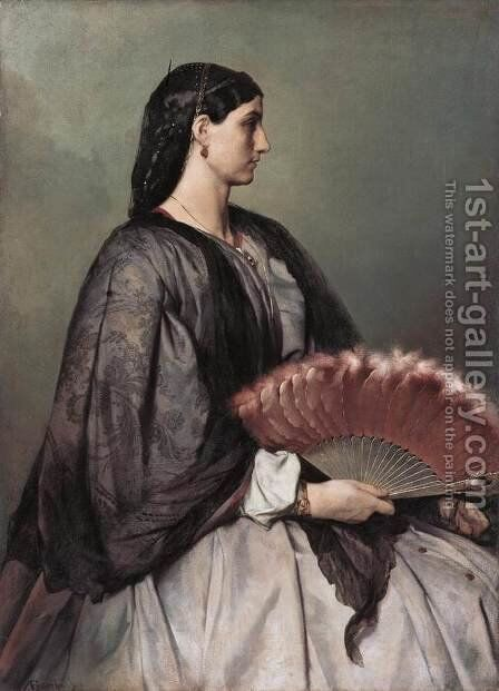 Nanna by Anselm Friedrich Feuerbach - Reproduction Oil Painting