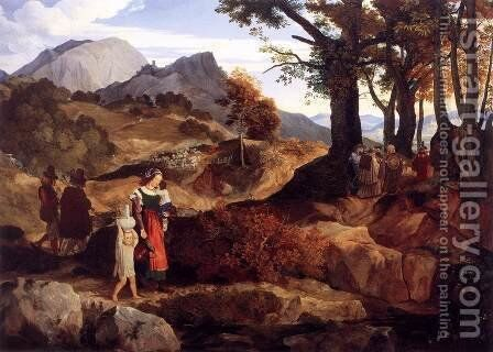 Ideal Landscape near Rocca Canterana by Carl Philipp Fohr - Reproduction Oil Painting