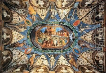 Ceiling decoration by Girolamo Genga - Reproduction Oil Painting