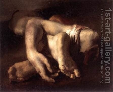 Study of Feet and Hands by Theodore Gericault - Reproduction Oil Painting