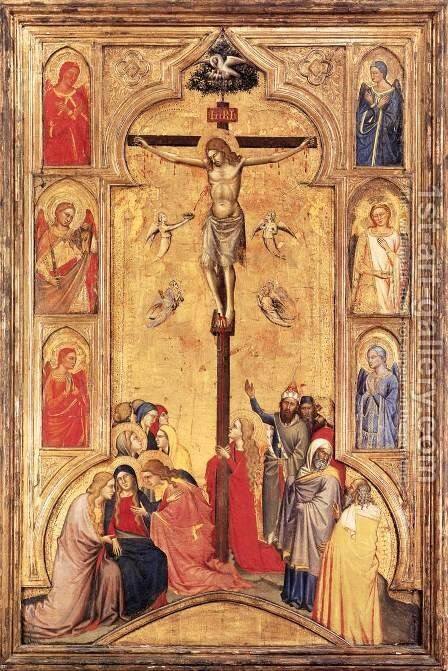The Crucifixion by Don Silvestro Dei Gherarducci - Reproduction Oil Painting