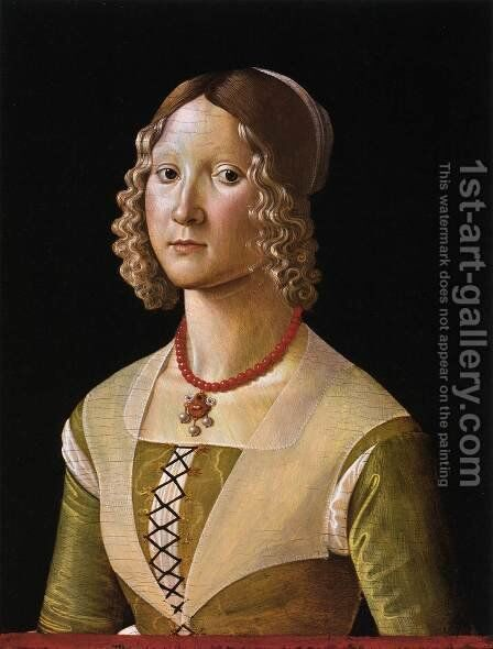Portrait of Selvaggia Sassetti by Davide Ghirlandaio - Reproduction Oil Painting