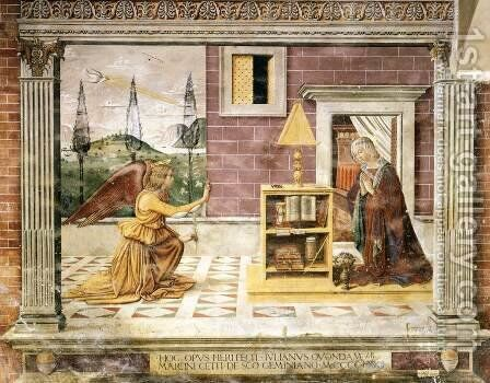 Annunciation by Domenico Ghirlandaio - Reproduction Oil Painting