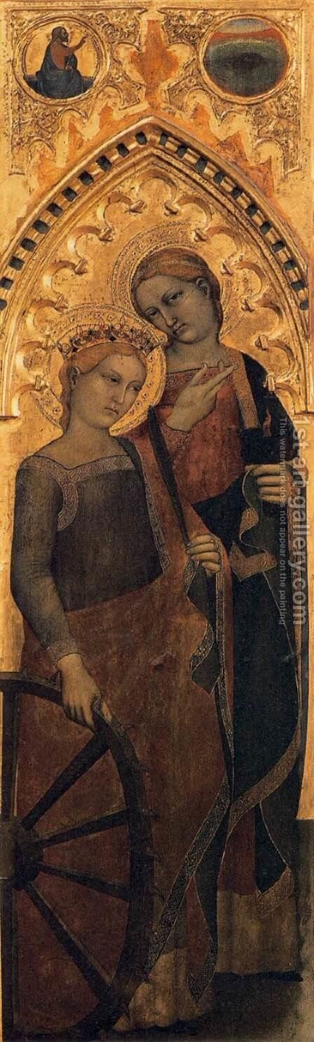 Ognissanti Polyptych lateral panel by Giovanni Da Milano - Reproduction Oil Painting