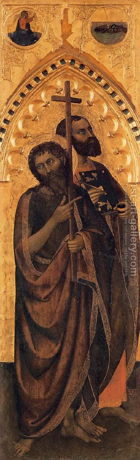 Ognissanti Polyptych lateral panel 3 by Giovanni Da Milano - Reproduction Oil Painting