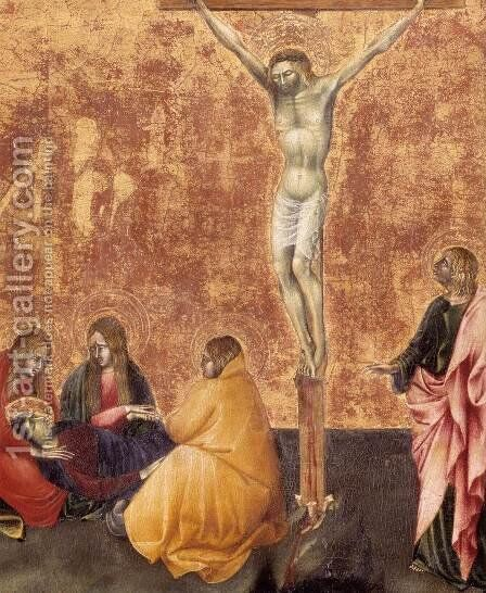 Crucifixion (detail) by Giovanni di Paolo - Reproduction Oil Painting