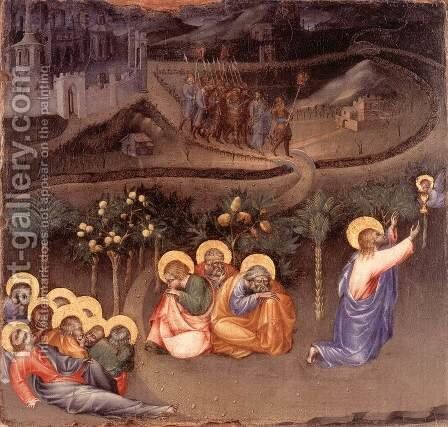 Christ in the Garden of Gethsemane by Giovanni di Paolo - Reproduction Oil Painting