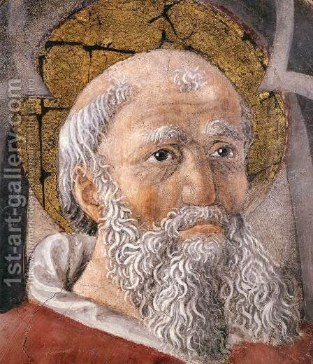 St Ambrose (detail) by Giovanni Di Piamonte - Reproduction Oil Painting