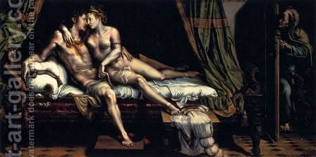 The Lovers by Giulio Romano (Orbetto) - Reproduction Oil Painting