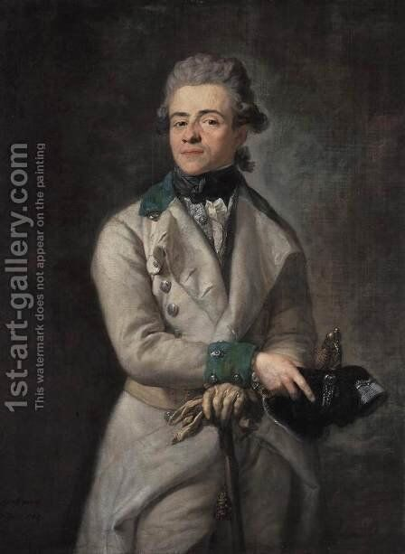 Heinrich XIII, Graf Reuss by Anton Graff - Reproduction Oil Painting