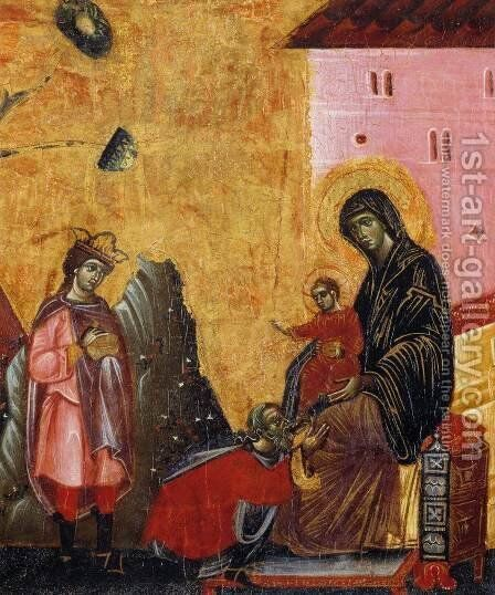 Adoration of the Magi (detail) by Guido Da Siena - Reproduction Oil Painting