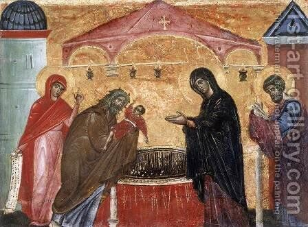 Presentation of Jesus at the Temple by Guido Da Siena - Reproduction Oil Painting