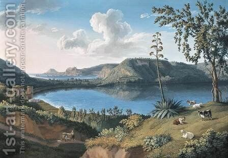 Lago d'Averno by Jakob Philippe Hackert - Reproduction Oil Painting