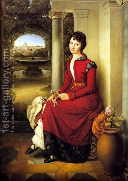Marchesa Florenzi by Heinrich Maria von Hess - Reproduction Oil Painting