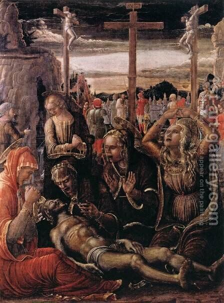 Lamentation of Christ by Jacopo da Montagnana - Reproduction Oil Painting