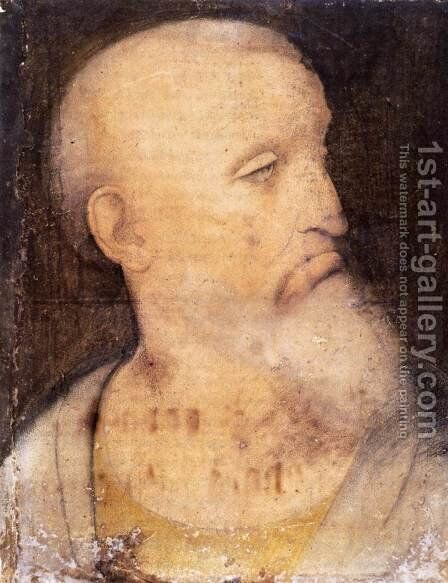 Head of St Andrew by Leonardo Da Vinci - Reproduction Oil Painting