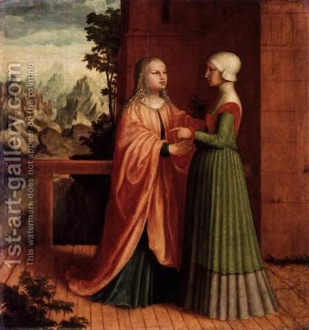 The Visitation by Master Of Ab Monogram - Reproduction Oil Painting