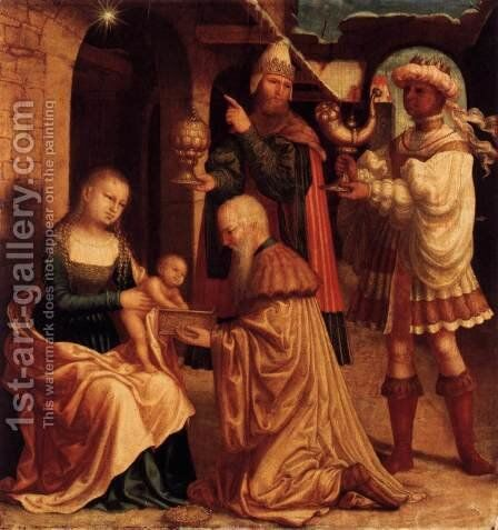 The Adoration of the Magi by Master Of Ab Monogram - Reproduction Oil Painting