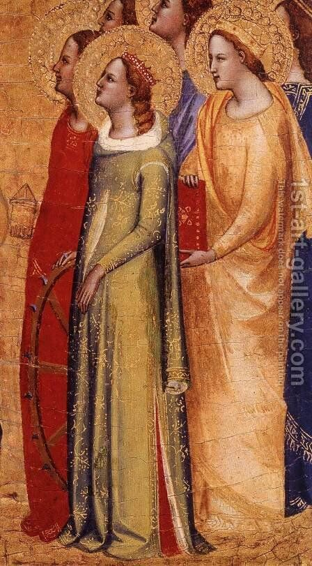 Coronation of the Virgin (detail) by Master Of San Lucchese - Reproduction Oil Painting