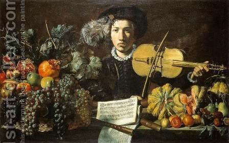 Still-Life with a Violinist by Master Of The Acquavella Still-Life - Reproduction Oil Painting