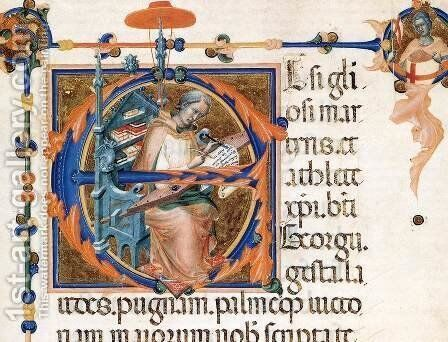 Codex of St George (Folio 17r) by Master of the Codex of St. George - Reproduction Oil Painting