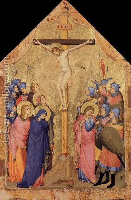 The Crucifixion by Master of the Codex of St. George - Reproduction Oil Painting