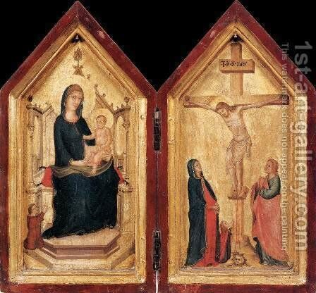 Diptych by Master of the Codex of St. George - Reproduction Oil Painting