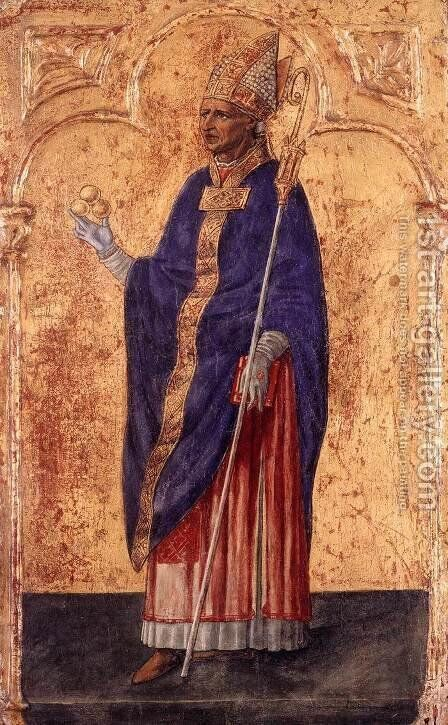 St Nicholas of Bari by Matteo Di Giovanni - Reproduction Oil Painting