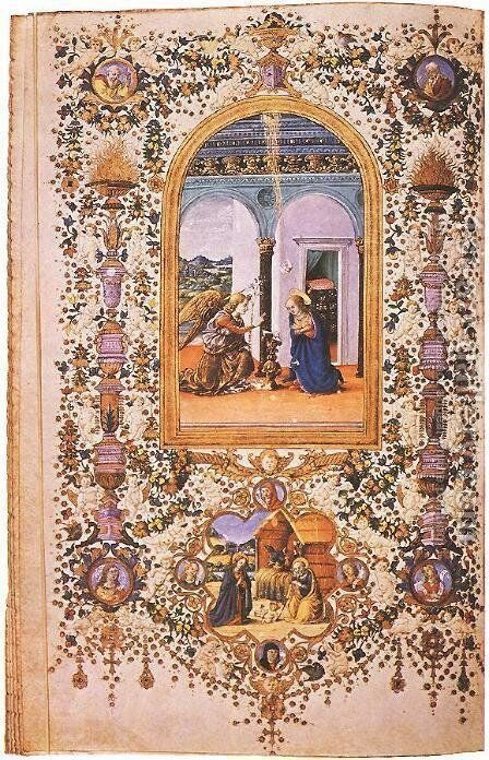 Prayer Book of Lorenzo de' Medici by Italian Miniaturist - Reproduction Oil Painting