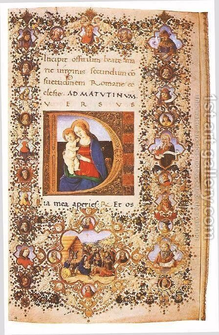 Prayer Book of Lorenzo de' Medici 2 by Italian Miniaturist - Reproduction Oil Painting
