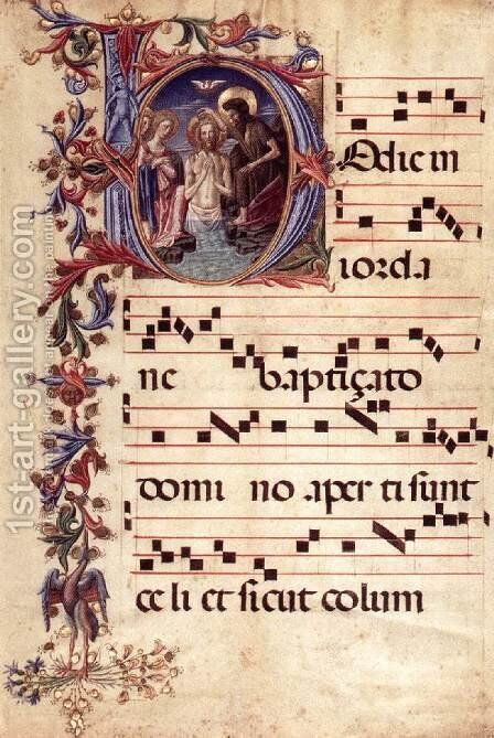 Antiphonary by Italian Miniaturist - Reproduction Oil Painting