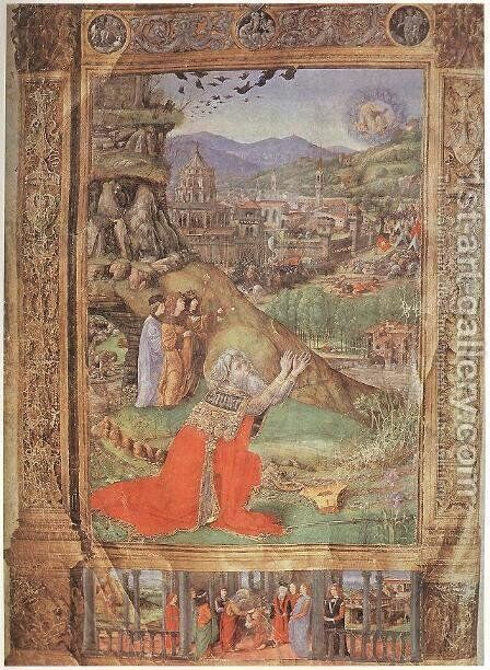Florentine Bible by Italian Miniaturist - Reproduction Oil Painting