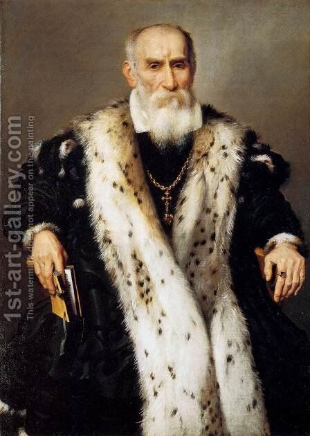 Portrait of a Man by Giovanni Battista Moroni - Reproduction Oil Painting