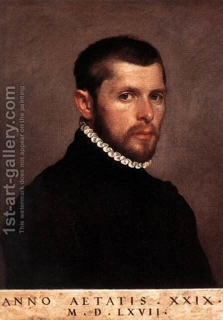 Portrait of a Man 2 by Giovanni Battista Moroni - Reproduction Oil Painting