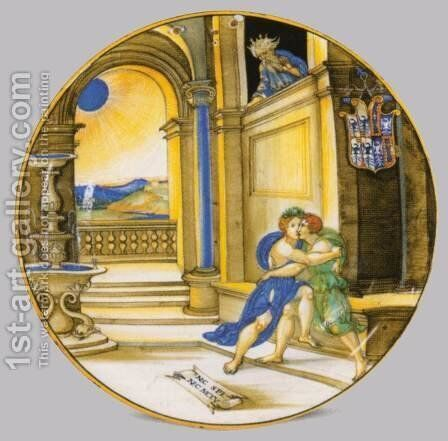 Plate by Nicola Da Urbino - Reproduction Oil Painting