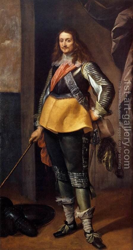 Portrait of a Gentleman in Armour by Carlo Francesco Nuvolone - Reproduction Oil Painting