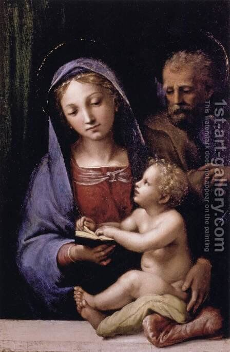 The Holy Family of the Book by Giovanni Francesco Penni - Reproduction Oil Painting
