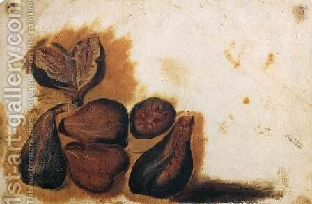 Still-Life of Figs by Simone Peterzano - Reproduction Oil Painting