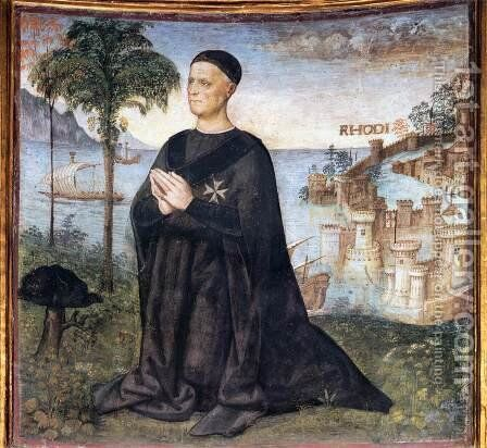 Portrait of the Donor by Bernardino di Betto (Pinturicchio) - Reproduction Oil Painting