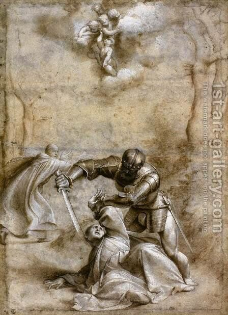 The Martyrdom of St Peter by (Giovanni Antonio de' Sacchis) Pordenone - Reproduction Oil Painting