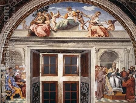 View of the south wall by Raphael - Reproduction Oil Painting