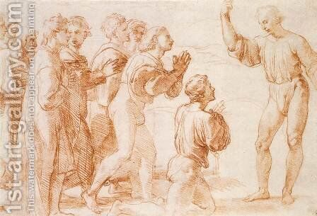 Compositional Study for Handing-over the Keys by Raphael - Reproduction Oil Painting