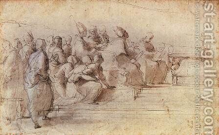 Study for the Disputa 2 by Raphael - Reproduction Oil Painting