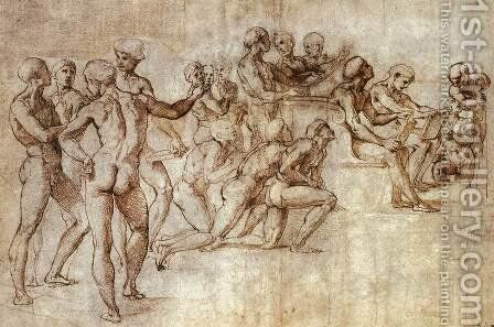 Nude Garzone Study for the Disputa by Raphael - Reproduction Oil Painting