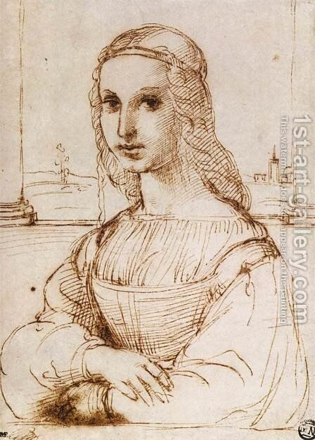 Portrait of a Woman by Raphael - Reproduction Oil Painting
