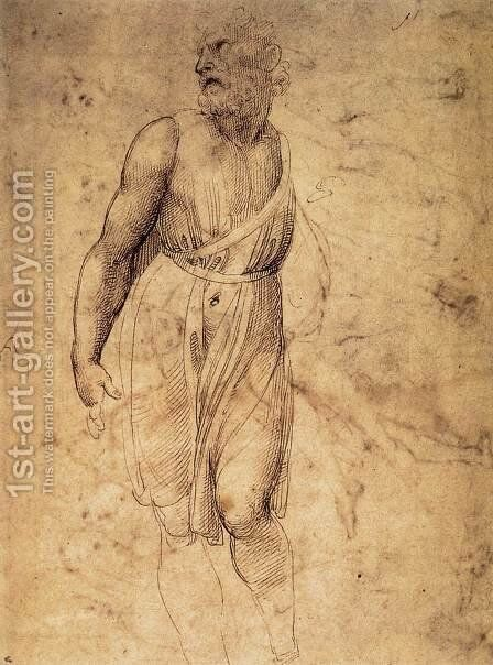 Study after Michelangelo's St Matthew by Raphael - Reproduction Oil Painting