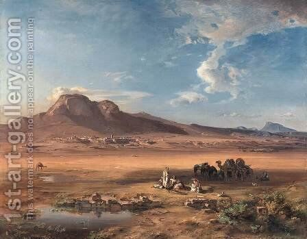 Corinth with Akrocorinth by Carl Rottmann - Reproduction Oil Painting