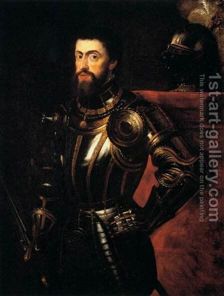 Charles V in Armour by Rubens - Reproduction Oil Painting
