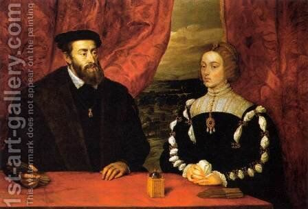 Charles V and the Empress Isabella by Rubens - Reproduction Oil Painting